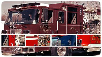 Collage of Fire Department Apparatus images